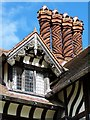SO8698 : Chimney and window detail, Wightwick Manor by David Martin