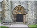 NY1153 : Christ Church, Silloth, main door by Alexander P Kapp