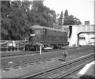 TQ1979 : Electric locomotive at Acton Town by Dr Neil Clifton