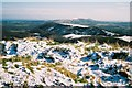 SY9282 : Creech: snowy ridge-top view by Chris Downer