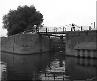 SO8453 : Diglis Basin barge lock, Worcester by Dr Neil Clifton