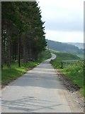 NJ3513 : Public Road to Lost farm by Stanley Howe