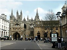 TL1998 : Cathedral Square, Peterborough by Dave Hitchborne