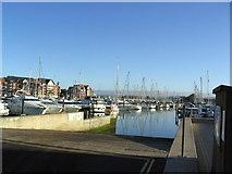 SY6778 : Slipway in Weymouth Marina by Stephen Williams
