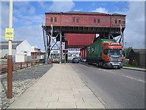 SJ3290 : Birkenhead docks: Tower Road bascule bridge by Nigel Cox