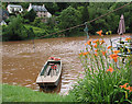 SO5615 : The hand ferry moored at Symonds Yat East by Pauline E