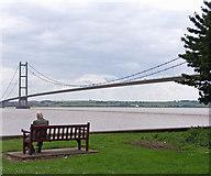 TA0225 : Humber Bridge Viewing Area by David Wright