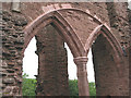 SO5719 : Window arches, the solar, Goodrich Castle by Pauline E
