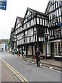SO7137 : Black and White buildings, New Street, Ledbury by Pauline E