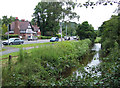 SO8798 : Smestow Brook and A454, Wightwick, near Wolverhampton by Roger  Kidd
