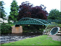 NY2623 : New  footbridge over the River Greta by Alexander P Kapp
