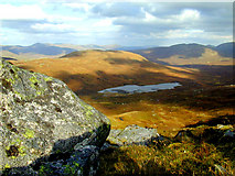 NN3686 : View of Loch Sguadaig from Beinn Teallach by Cole Smith