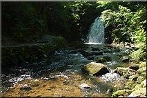 J3996 : Glenoe waterfall (17) by Albert Bridge