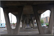 J3474 : The Station Street/Bridge End flyover, Belfast (2) by Albert Bridge