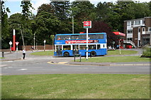 TQ2258 : Bus at Tattenham Corner station by Dr Neil Clifton