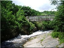 SD9701 : Footbridge over the River Tame by Alexander P Kapp
