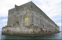 SY6874 : Mulberry Harbour by David Brock
