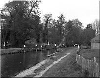 TQ0155 : Worsfold Gates, River Wey, Surrey by Dr Neil Clifton