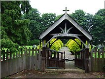 SK2238 : Longford Cemetery by John Poyser