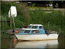 TF3244 : Boat on the River Witham, Boston by Dave Hitchborne