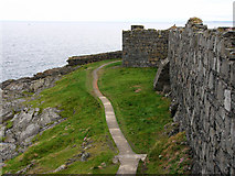 SC2484 : Path round the outer walls of Peel Castle, St Patrick's Isle by Chris Gunns