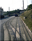 SH7782 : Passing Loop, Lower Section, Great Orme Tramway by Dr Neil Clifton