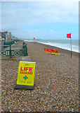 TQ2804 : Lifeguard Post, Hove Beach by Simon Carey