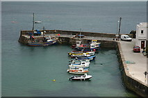 X4798 : Boats in a harbour at Dunabrattin Head by Philip Halling