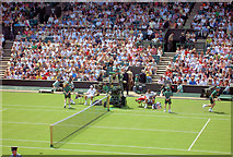 TQ2472 : Men's singles opening match with Federer. by Steve  Fareham