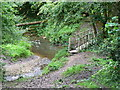 ST7487 : Confluence of streams and a bridge Lower Woods by Brian Robert Marshall
