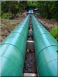NS8841 : Pipes Feeding Water to Falls of Clyde Power Station by Iain Thompson