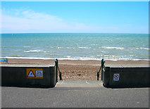 TQ2704 : Steps to the Beach by Simon Carey