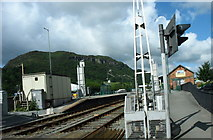 SH5639 : Porthmadog Station from the road by Eric Jones