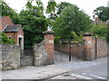 NZ4112 : The gates to Yarm School by Carol Rose