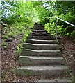 SE1234 : Steps on footpath to Canford Drive, Allerton, Bradford by Humphrey Bolton