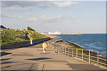 SZ6497 : Seafront at West Battery, Southsea Castle by Peter Facey