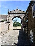 SK8608 : Oakham Castle Gate. by gary radford