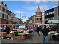 NZ4419 : Dovecot Street from the marketplace by Carol Rose
