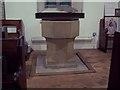 SE5389 : All Saints Church, Hawnby - Font by Maigheach-gheal