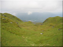 NN5738 : View from the ridge down towards the western end of Loch Tay by Pip Rolls