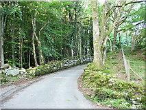 SH7519 : The minor road to Llanfachreth at Ochr-y-foel crossroads by Eric Jones