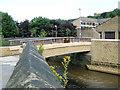 SD9424 : Footbridge over River Calder, Todmorden by David Ward