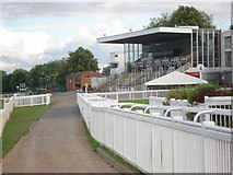 SO8455 : Grandstand at Worcester Racecourse by Trevor Rickard