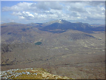 NH2273 : View north from the north end of Beinn Liath Mhor Fannaich by Nigel Brown