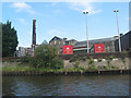 ST1875 : Brains Brewery from the Taff by Pauline E