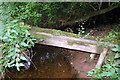 NY3942 : Small timber footbridge crosses tributary to Roe Beck by Phil Davies