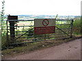 SO6123 : Open gate with warning notice by Pauline E