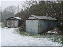 SE0511 : Old garages:Winter by Howard Selina