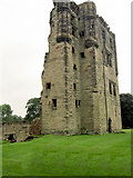 SK3616 : Ashby Castle keep. by Steve  Fareham
