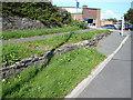 SN5881 : Vale of Rheidol Railway Embankment by John Lucas